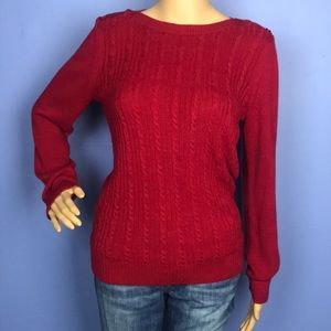 Banana Republic Red Cable Knit Sweater size Medium